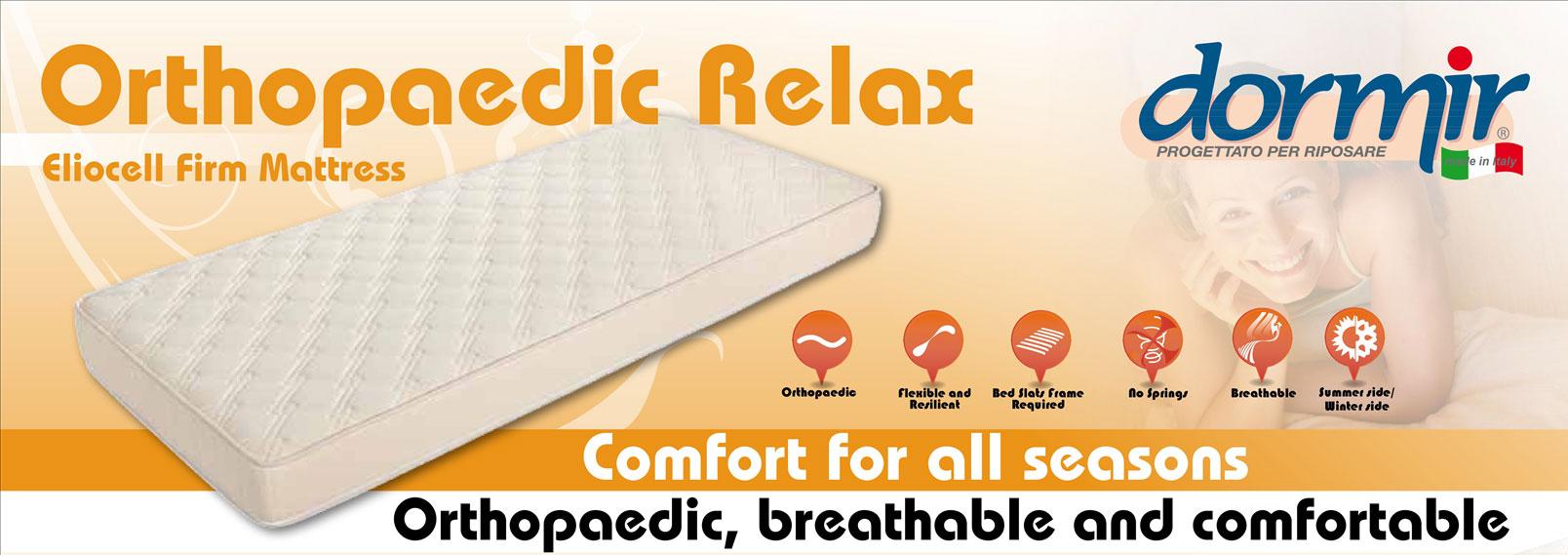 матрас ORTHOPEADIC RELAX Ортопедический эффект, комфорт и терморегуляция